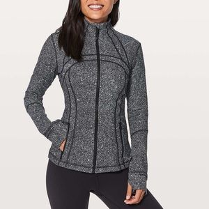 LULULEMON Black White Speckled Zip Define Jacket